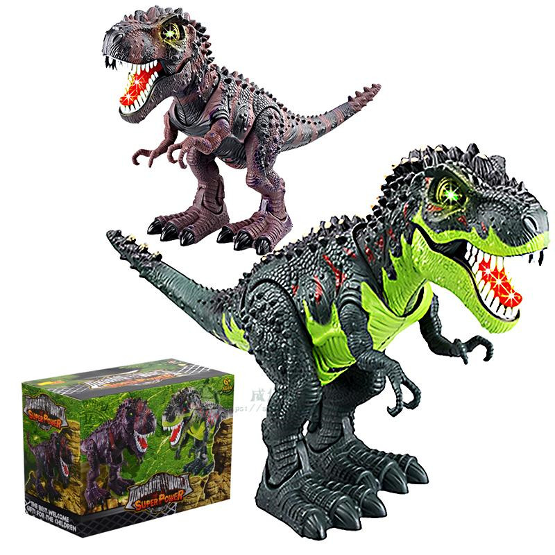 PVC Electronic Tyrannosaurus Rex Toy, Electric Dinosaur Robot With Flashing & Sounding, Dinosaurs For Games, Hot Toys Brinquedos 37 cm tyrannosaurus rex with platform dinosaur mouth can open and close classic toys for boys animal model without retail box