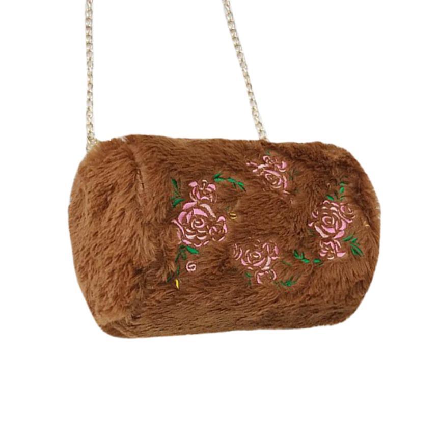 Последняя женская мода Роза Плюшевые Сумка Женская сплошной цвет молния сумки небольшой квадратный посылка # F