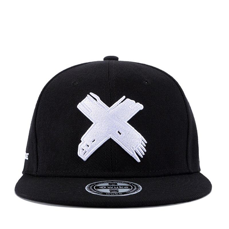 2019new High Quality Unisex Cotton Snapback Cap 3D X Embroidery Mens Flat Brim Baseball Cap Fashion Hip Hop Hats