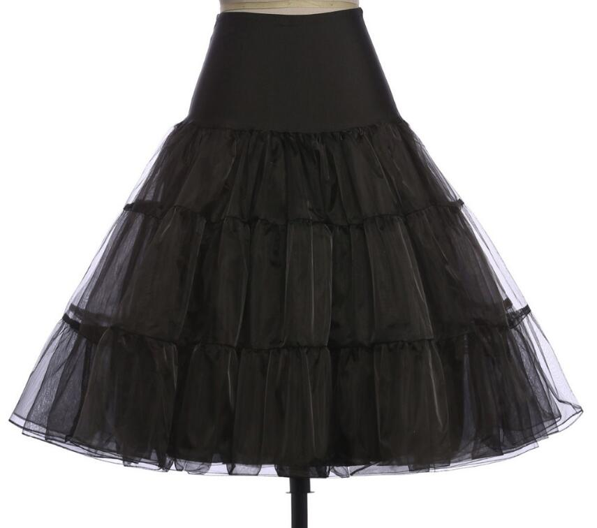 Mode Damen Retro Kleid Vintage Kleid Crinoline Petticoat Lang