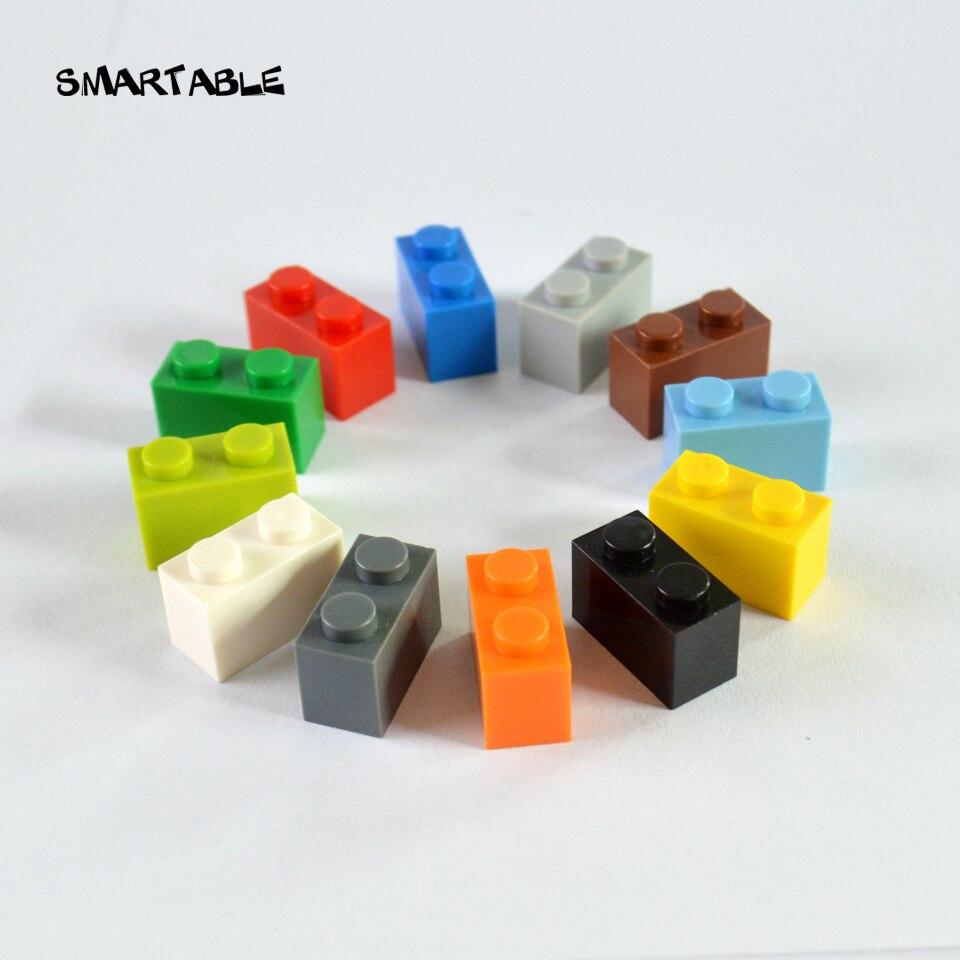 Детский конструктор Smartable 1X2, детали для сборки логотипа «сделай сам», игрушки для детей, развивающие креативные совместимые с основными бре...
