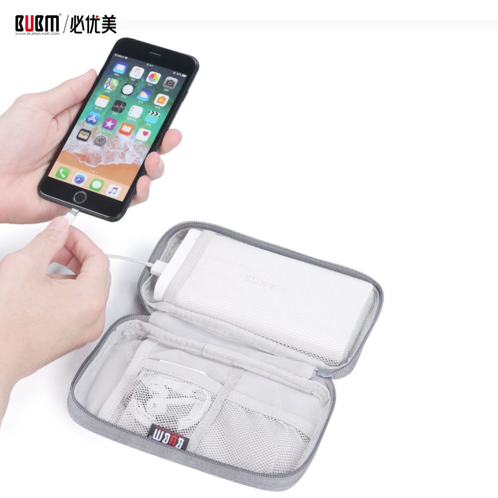 BUBM Bag For Power Bank Pouch Carrying Case  Cable Organizer Portable Bag For External Battery Compact Charge