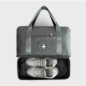 4e6ac63b61b17 Hombre bolsa de gimnasio con compartimento para zapatos de separación en  seco y húmedo bolso de natación de gran capacidad de bolso de las mujeres  bolso