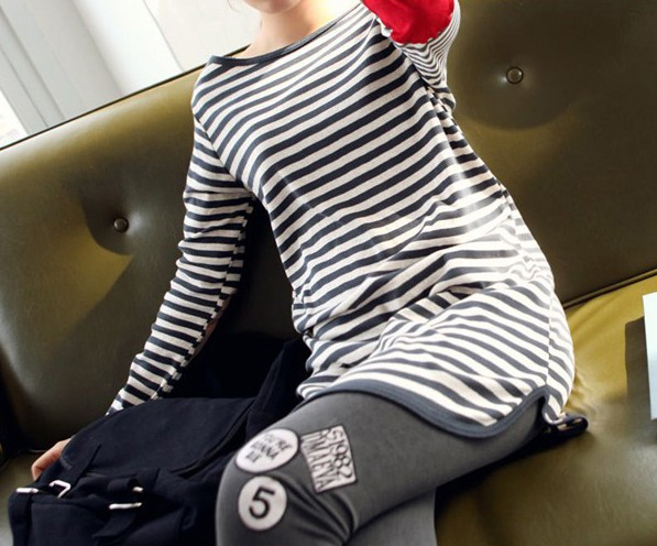 Maternity Suits Pregnant Striped Shirt + Leggings/Pants Long Sleeved T-shirt Set for Women Clothing Spring/Autumn/Winter stylish long sleeves striped shirt dress for women