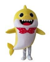 Cartoon Yellow Shark Mascot Costume Free Shipping