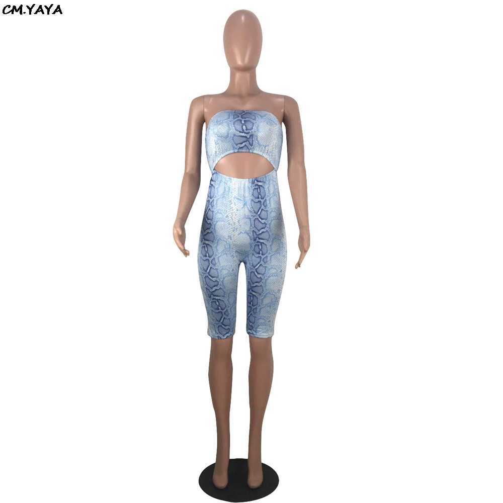 2019 frauen neue sommer sexy party night club cut out taille liebsten overall knie länge bodycon ropmper overall GLOX8041