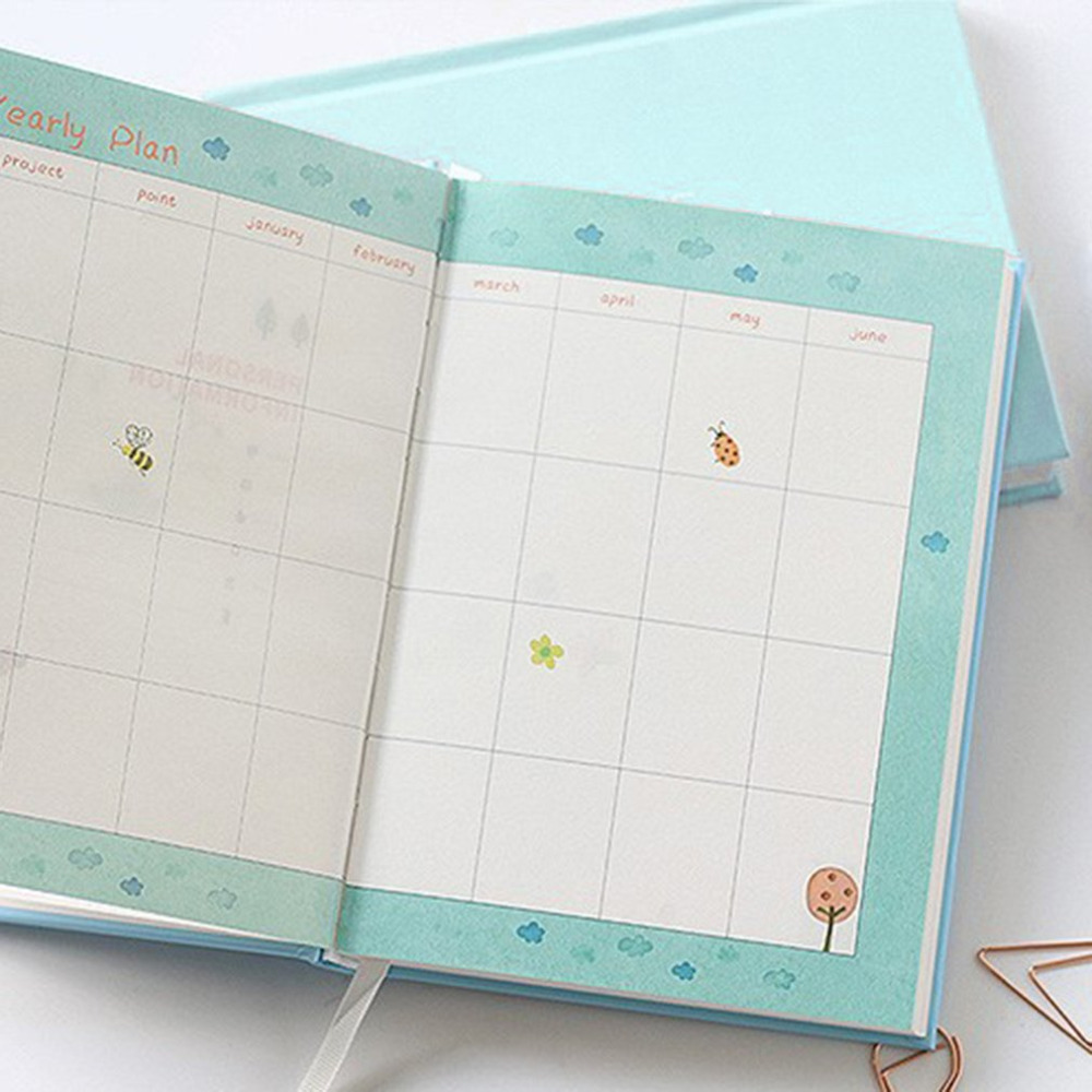 365 days personal diary planner hardcover notebook diary 2017 office weekly schedule cute korean stationery libretas y cuadernos 365 days personal diary planner