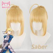 【Anihut】altria Pendragon Saber Pruik Fate Stay Night Cosplay Pruik Lot Grand Order Sabel Cosplay(China)