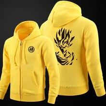 Anime Dragon Ball Z Hoodies Son Goku Thick Zipper Sweatshirt