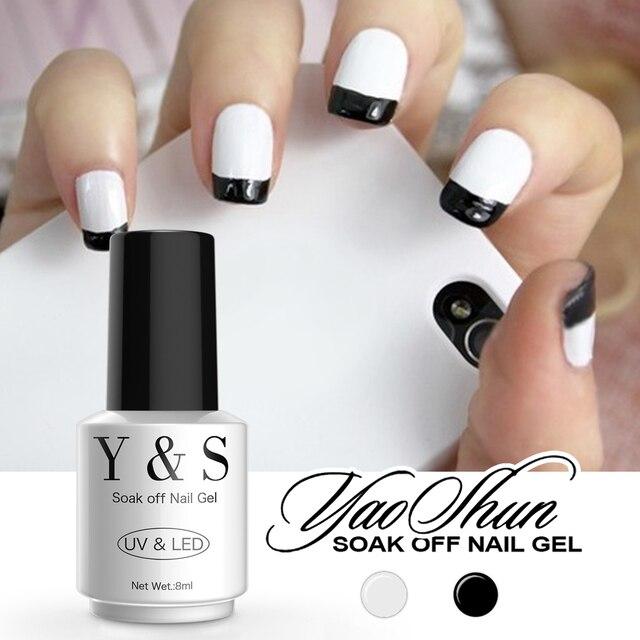 spesso Yaoshun Nail Polish Gel Classico Colore Bianco e Nero French  UW39