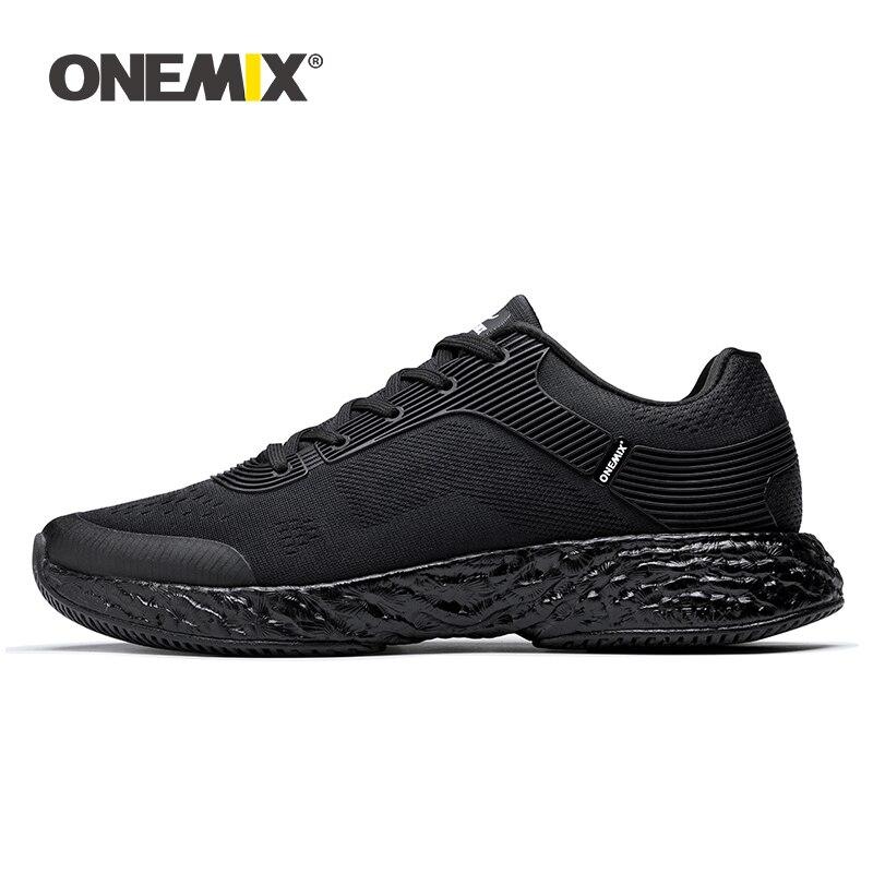 Homens Correndo Sapatos Maratona Energia ONEMIX Tênis Rebote 58 Queda de Alta-tecnologia de Energia Elástica Entressola Flexível Anti-skid sola