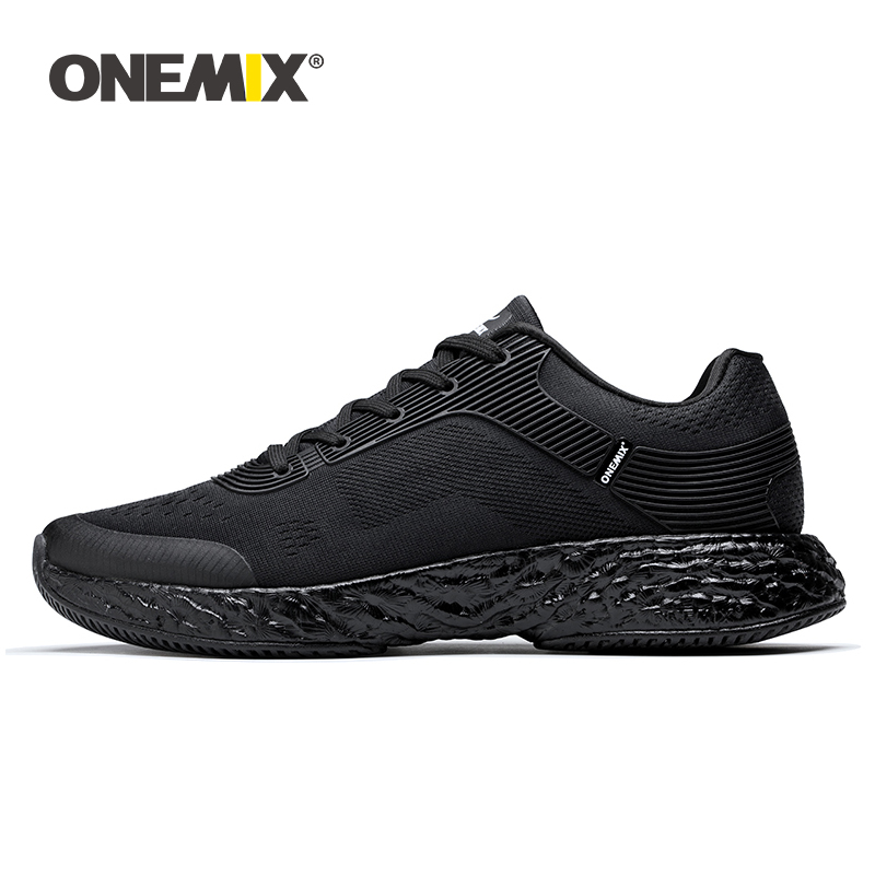 ONEMIX Men Running Shoes Energy Marathon Sneakers Rebound 58 Energy Drop High-tech Elastic Flexible Midsole Anti-skid Outsole