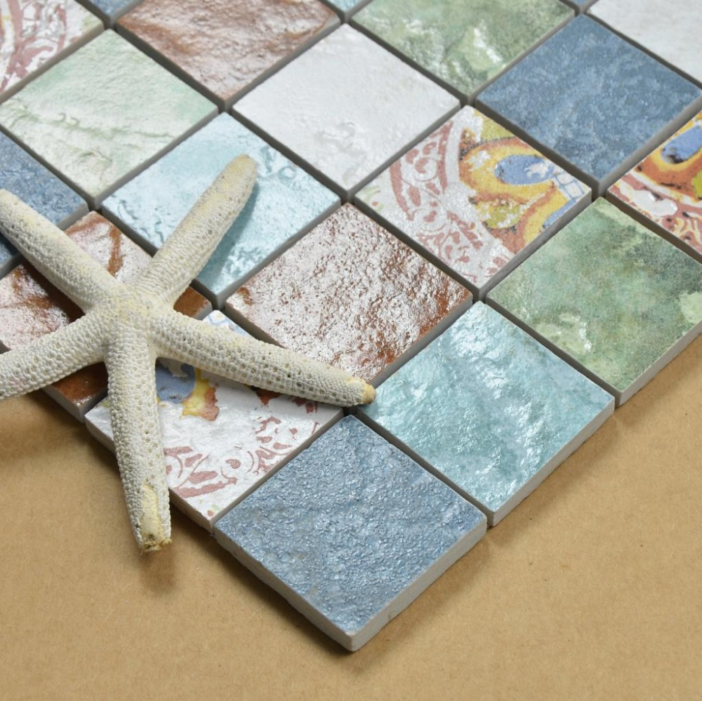Antique ceramic mosaic tile stickers floor tile wall tile on ...