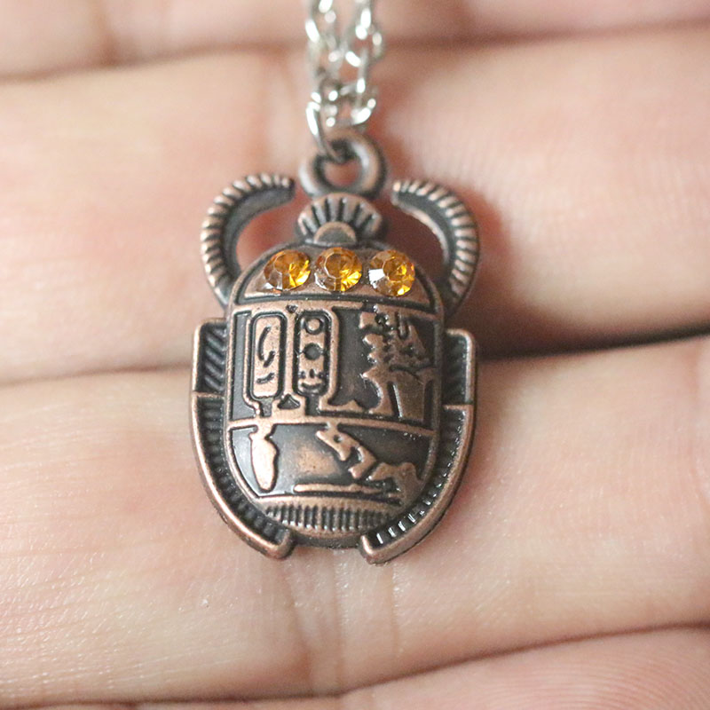 Egyptian Egypt Scarab Necklaces Vintage Chafer Pendant Necklace Wealth Eternal Choker Collier For Women Men Christmas Gift in Pendant Necklaces from Jewelry Accessories