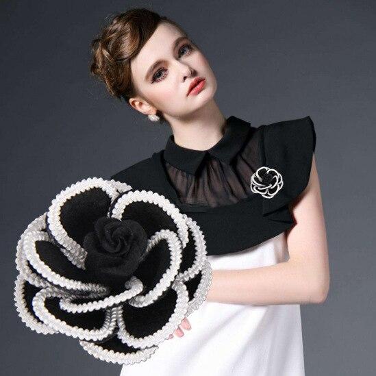 Я-Remiel 2018 мода новый творческий тканевая Камелия цветок броши ткань Art Костюмы корсаж для Для женщин воротник рубашки аксессуары