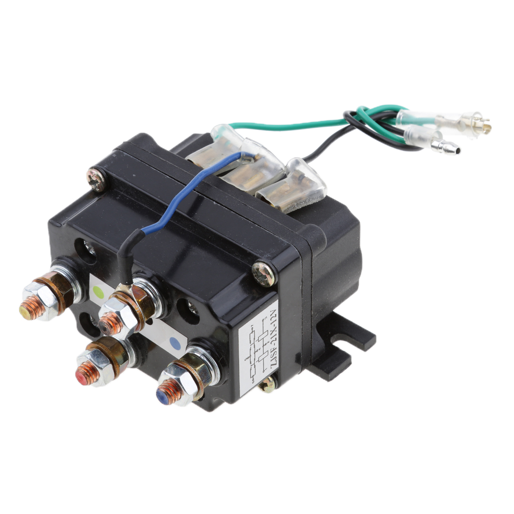 Image 2 - 12V Sealed  Electronic Winch Relay Contactor Solenoid Universal Part for ATV UTV Truck Car Auto Black 80mm*7.5mm*40.5mm-in ATV Parts & Accessories from Automobiles & Motorcycles