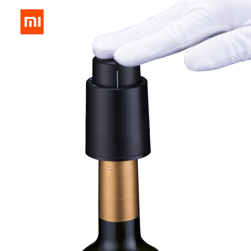 XIAOMI Mijia Wine Stopper Stainless Steel Vacuum Memory Wine Stopper Electric Stopper Wine Corks Metal Digital Scale