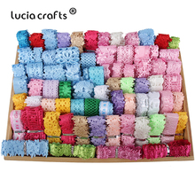Lucia Crafts  8-40mm random Mixed  DIY Flower Ribbon Sewing Craft Lace Garment Home Decor  P0822