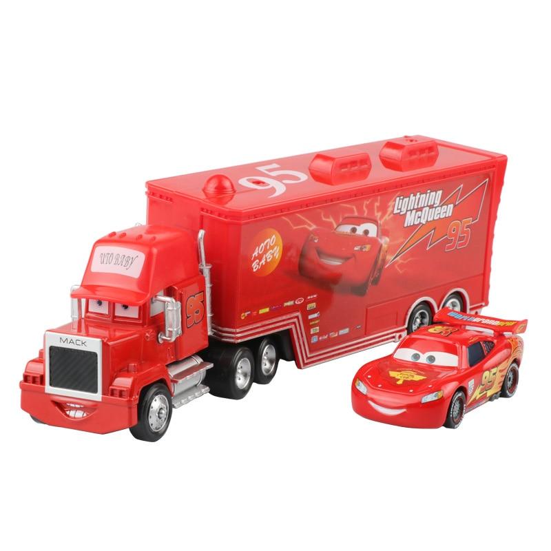 Дисней Pixar Тачки 2 3 игрушки Молния Маккуин Джексон шторм мак грузовик 1:55 литая модель автомобиля игрушка детский подарок на день рождения - Цвет: Two cars A