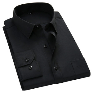 Image 5 - בתוספת גודל גדול 8XL 7XL 6XL 5XL Mens עסקים מקרית ארוך שרוולים חולצה קלאסי לבן שחור כהה כחול זכר חברתי שמלת חולצות