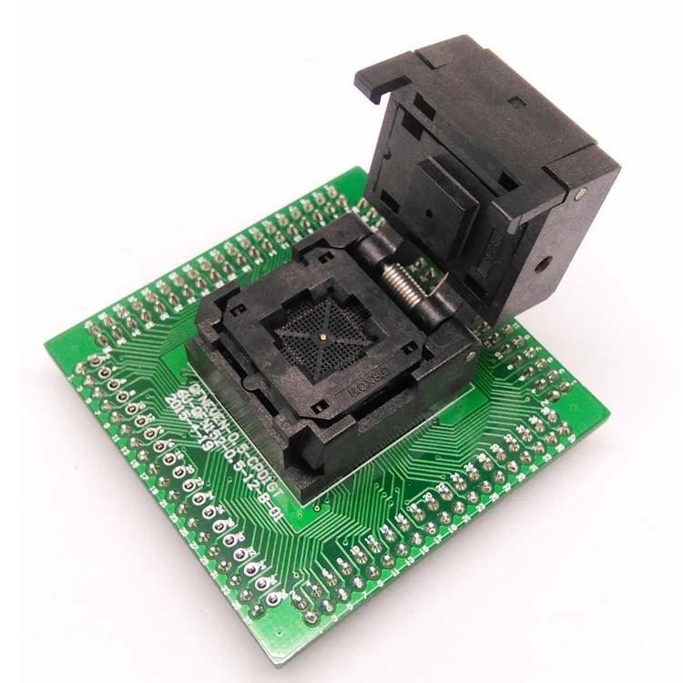 QFN56 MLF56 WLCSP56 to DIP56 Pin Pitch 0.5mm IC Body Size 8x8mm IC550-0564-010-G Test Socket Single borad Programming adapter sop16 soic16 so16 to dip16 programming socket pin pitch 1 27mm ic body width 3 9mm 150mil ots 16 1 27 03 test socket adapter