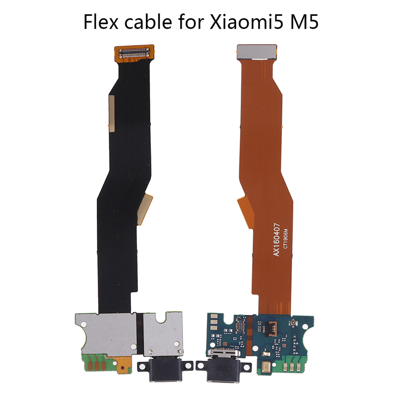 USB Charging Jack Plug Socket Connector Charge Dock Port Flex Cable With Microphone For Xiaomi5 M5(China)