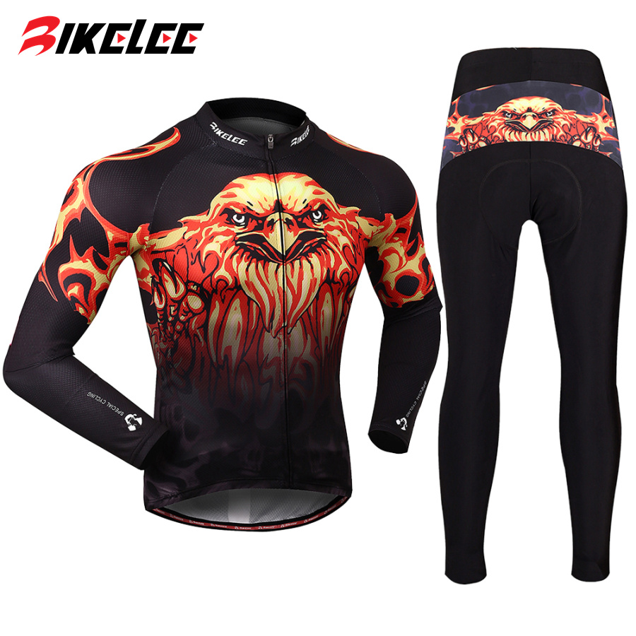 ФОТО Winter fleece warm professional cycling jersey Breathable Quick dry silicon pads Pants road MTB bike Bicycle Clothing ciclismo