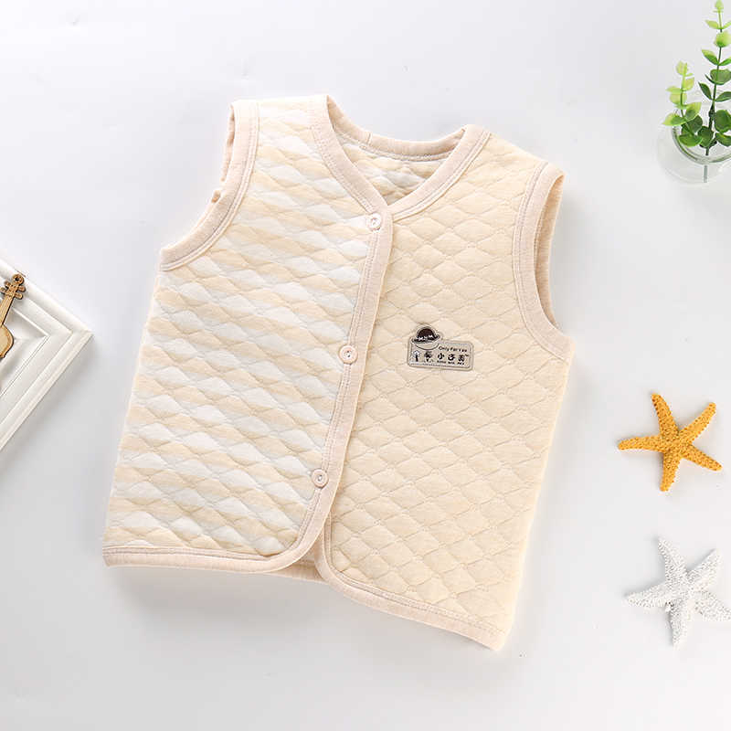 Pasgeboren Baby Vest Zachte Katoenen Herfst Lente Baby Kleding Vesten Baby Boy Meisjes Jas Kinderkleding 0-5 jaar baby Katoenen Vest