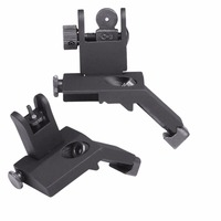 Tactical Backup Front Rear Flip Up 45 Degree Offset Rapid Transition Iron Sight Mount Standard Profile