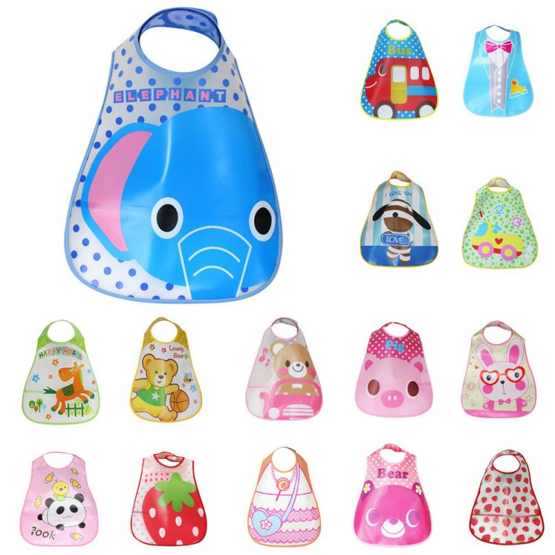 TELOTUNY 1PCS Cartoon Prints Kids Bibs EVA Waterproof Bib Childrens Winter Bibs Feeding Tools Dropship 1.11