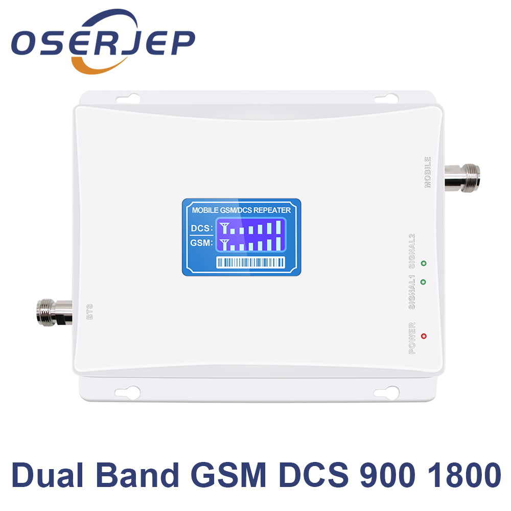 LCD Display GSM 900 DCS 1800 mhz Dual Band Repeater GSM 4G 1800MHz LTE Cell Phone