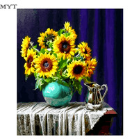 Free Shipping Hot Sale Flower Framless Picture DIY Acrylic Oil Painting By Numbers Wall Art DIY