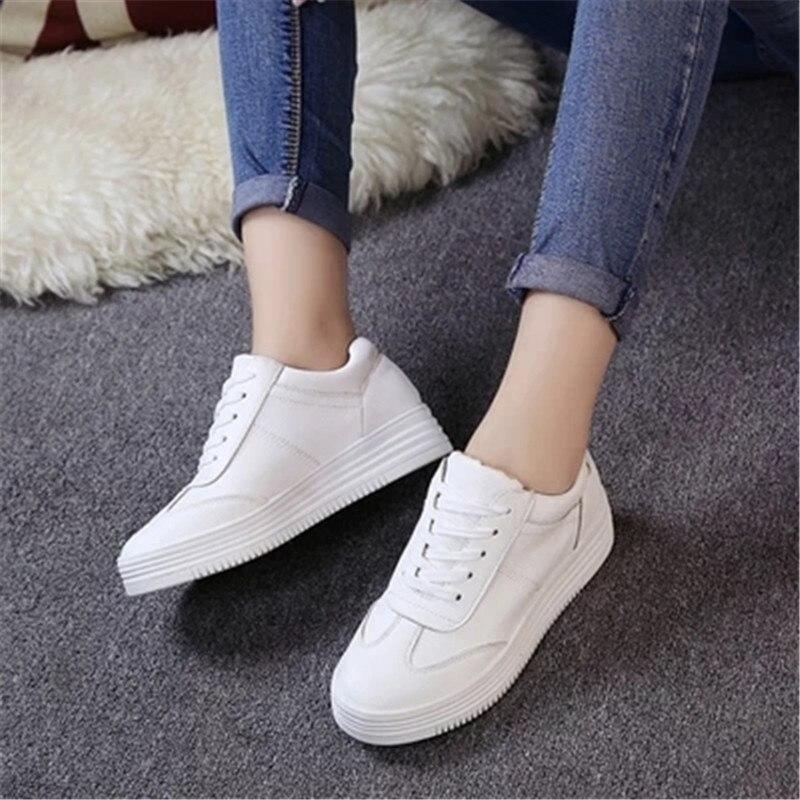Femmes 2018 Dentelle Chaussures 2 Mode Nouveau 1 Casual De Sauvage Blanc taawZq