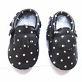 New Polka dot Genuine Leather baby shoes Can be customized First Walkers The design Toddler baby moccasins Shoes free shipping