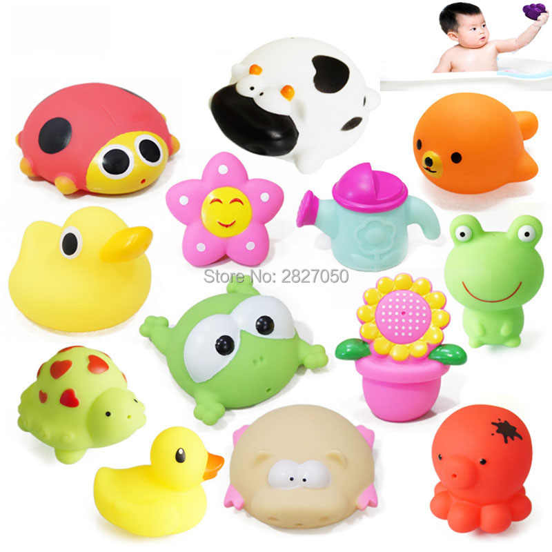 Sevimli karikatür bebek duş banyo oyuncak kawaii hayvanlar su kaşığı bebek banyo sifon banyo yıkama kafa bebek klasik oyuncaklar
