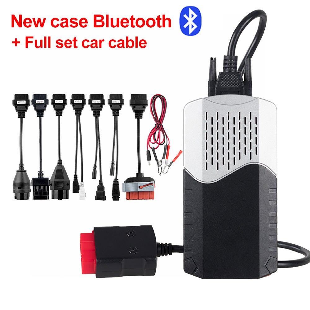 CDP TCS V3.0 плата OBD2 автомобильный Грузовик tcs cdp tcs pro монитор реле Bluetooth obd ii сканер,00 keygen автоматический диагностический инструмент - Цвет: New CDP TCS BT cable