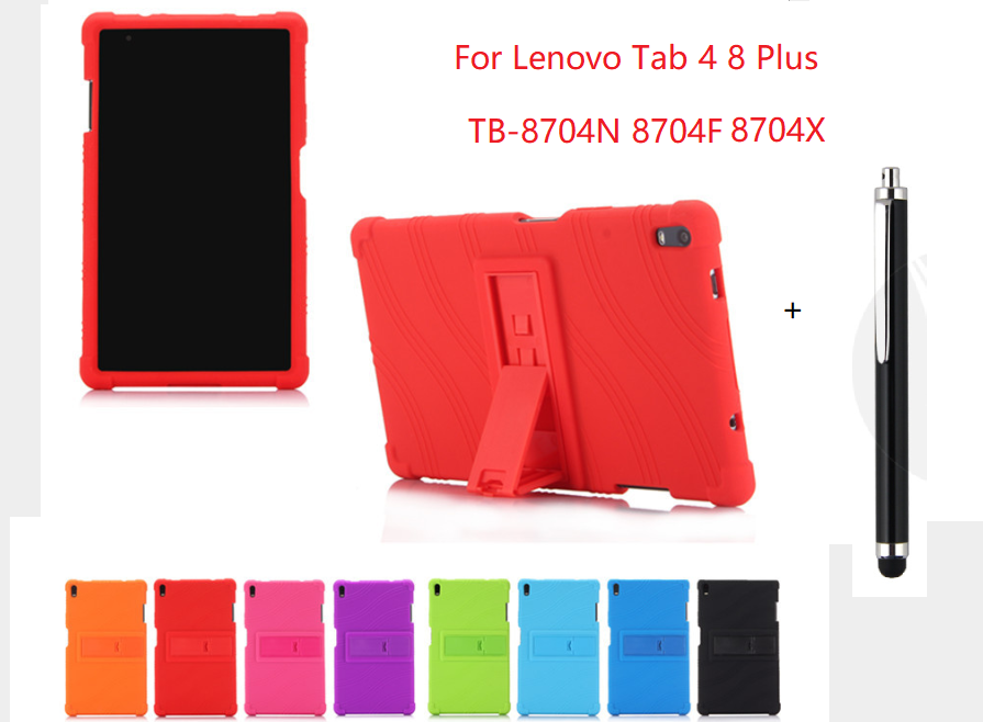 For Lenovo Tab 4 8 Plus Case Soft Silicone Shockproof Back Cover for Lenovo Tab 4 8 Plus TB-8704N  8704F Tablet Skin Coque Capa