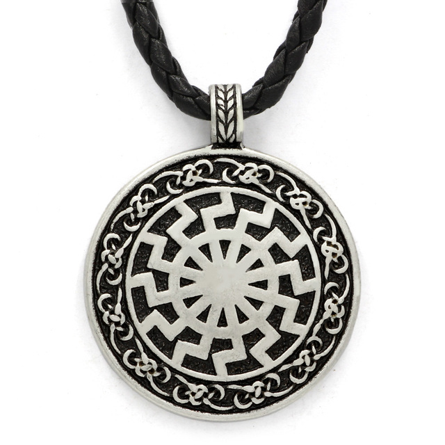 Black sun viking pendant viking necklace norse viking jewelry black sun viking pendant viking necklace norse viking jewelry sonnenrad aloadofball Image collections