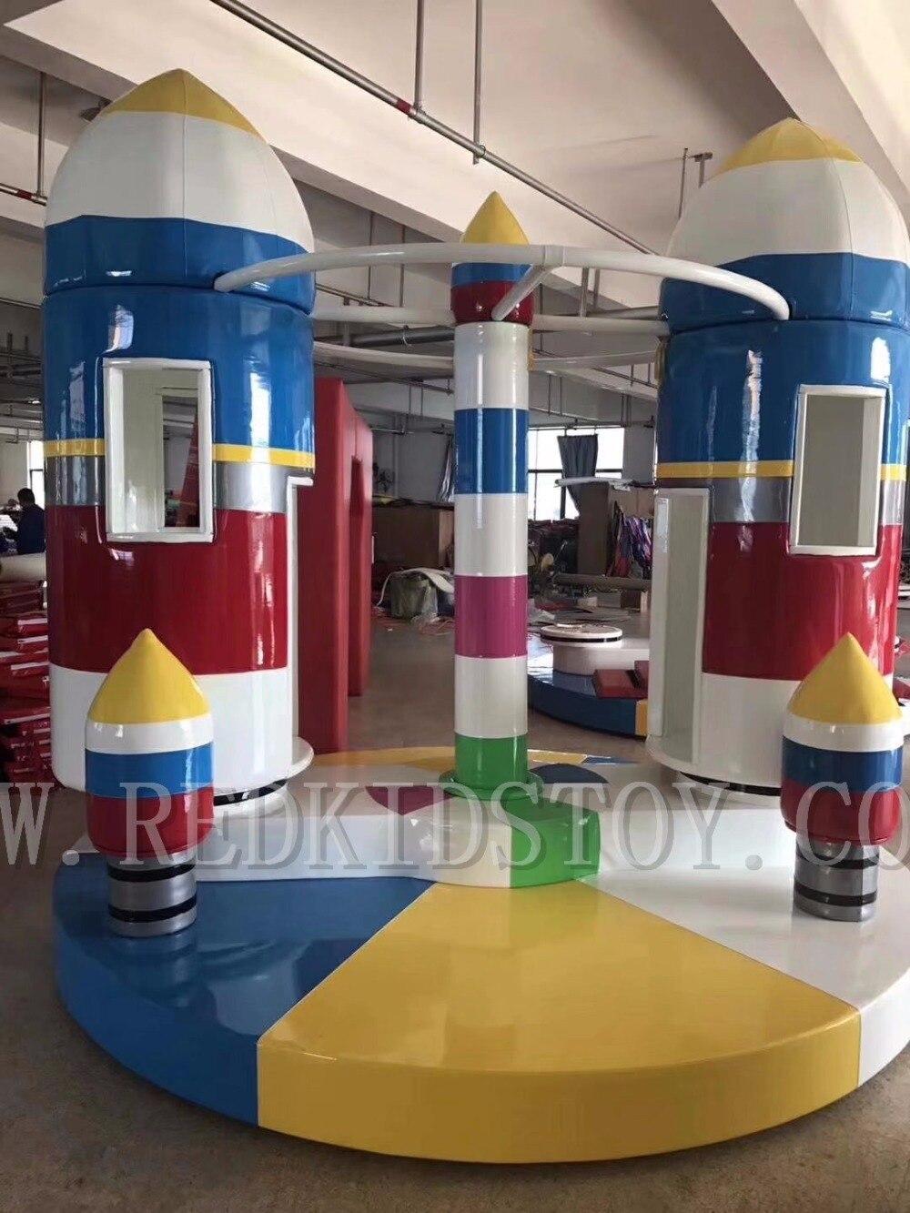 Carrousel électrique intérieur fusée CE approuvé enfants jouer Center joyeux aller rond HZ-7905g