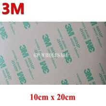Fita adesiva dupla face 5 folhas, 10cm x 20cm x 0.13mm 3m 468 468mp 200mp, resistência de alta temperatura