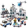 1230 unids policía modelo de oficina compatible con las principales marcas educativos bloques de construcción de madera bloques de construcción enlighten niños juguete