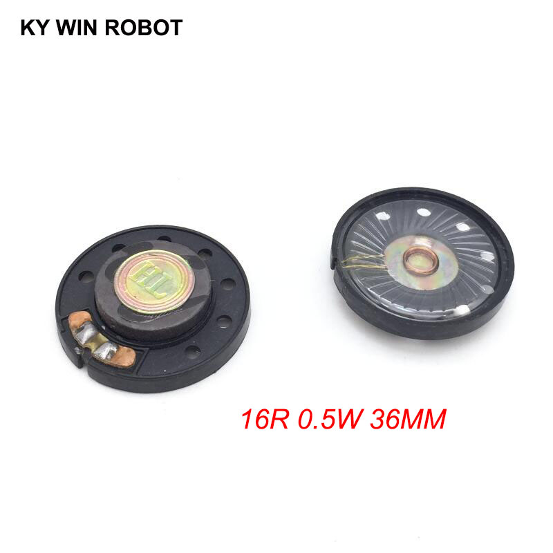 2pcs New Ultra-thin Speaker Doorbell Horn Toy-car Horn 16 Ohms 0.5 Watt 0.5W 16R Speaker Diameter 36MM 3.6CM Thickness 9.2MM