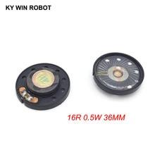 2pcs New Ultra-thin speaker Doorbell horn Toy-car 16 ohms 0.5 watt 0.5W 16R Diameter 36MM 3.6CM thickness 9.2MM