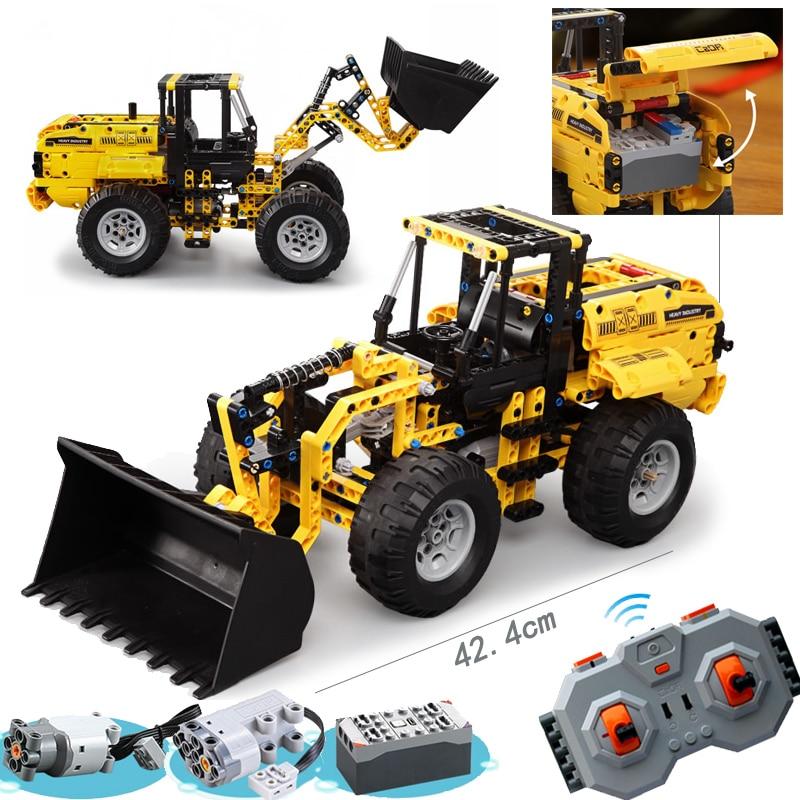 TECHNIC City Excavator Wheel Loader RC Motor Box Power Function Building Blocks Bricks Model High Tech Legoing Toys For Children