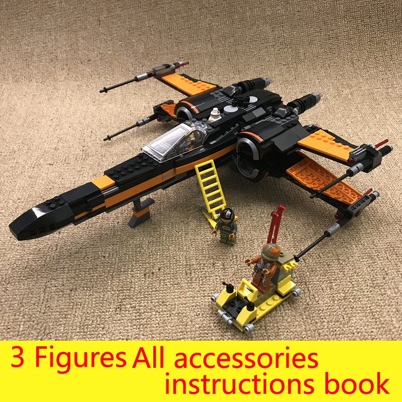 748 Pcs Star Wars Poe's X-wing Fighter Building Blocks Legoings 75102 Star Wars Figures Assembled Kids Model Birthday Gift Toys thinkeasy 8 pcs set puzzle transformation star wars space cars prime bruticus action figures block toys for kids birthday gifts