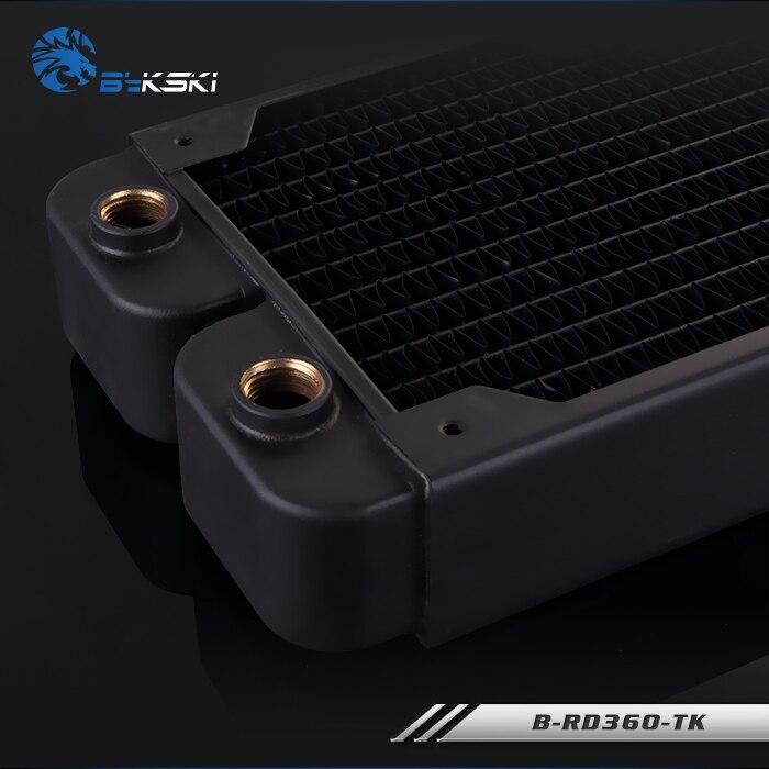 Bykski 38mm d'épaisseur 360mm cuivre ordinateur eau liquide de refroidissement décharge dissipateur de chaleur échangeur radiateur pour 3*12 cm ventilateur Raidator - 4