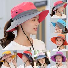 Рыболовная шляпа Защита от солнца УФ UPF 50+ Солнцезащитная шляпа ведро Летняя мужская и женская длинная большая широкополый Боб походная Выходная шляпа