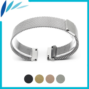 Stainless Steel Watch Band 16mm 18mm 20mm 22mm 23mm for Movado Magnetic Clasp Strap Quick Release Loop Wrist Belt Bracelet Black 22mm quick release ceramic watchband tool for tissot longines mido luminox seiko watch band steel butterfly clasp wrist strap