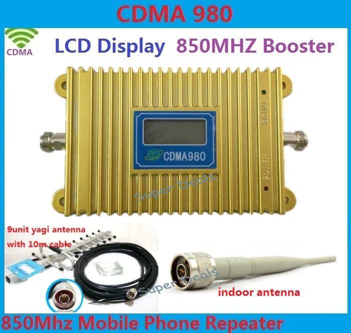 High Power CDMA 850Mhz Mobile Phone Signal Booster CDMA Signal Repeater lte 2g 4g amplifiers + 13 dBi Yagi Antenna with CableHigh Power CDMA 850Mhz Mobile Phone Signal Booster CDMA Signal Repeater lte 2g 4g amplifiers + 13 dBi Yagi Antenna with Cable