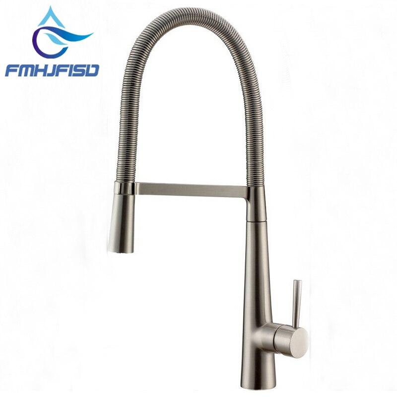 Factory direct sale Luxury Brushed Nickel Kitchen Faucet Single Handle Hole Vessel Bar Sink Faucet Deck